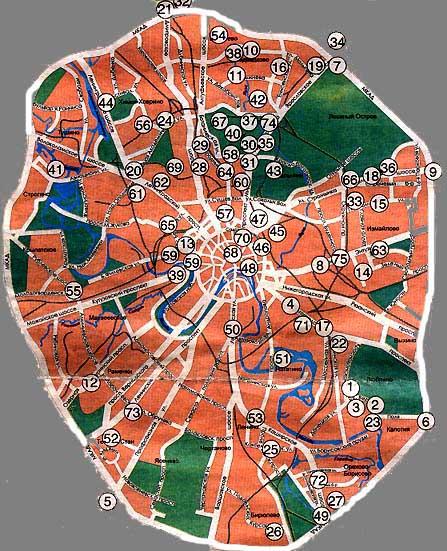 Карта цветочных рынков и